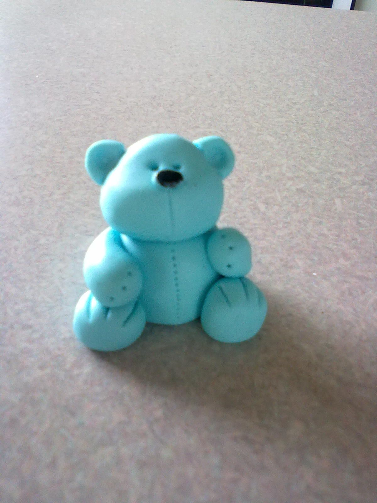 Blue teddy topper