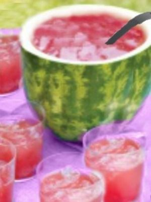 recipe: watermelon alcoholic punch bowl [10]