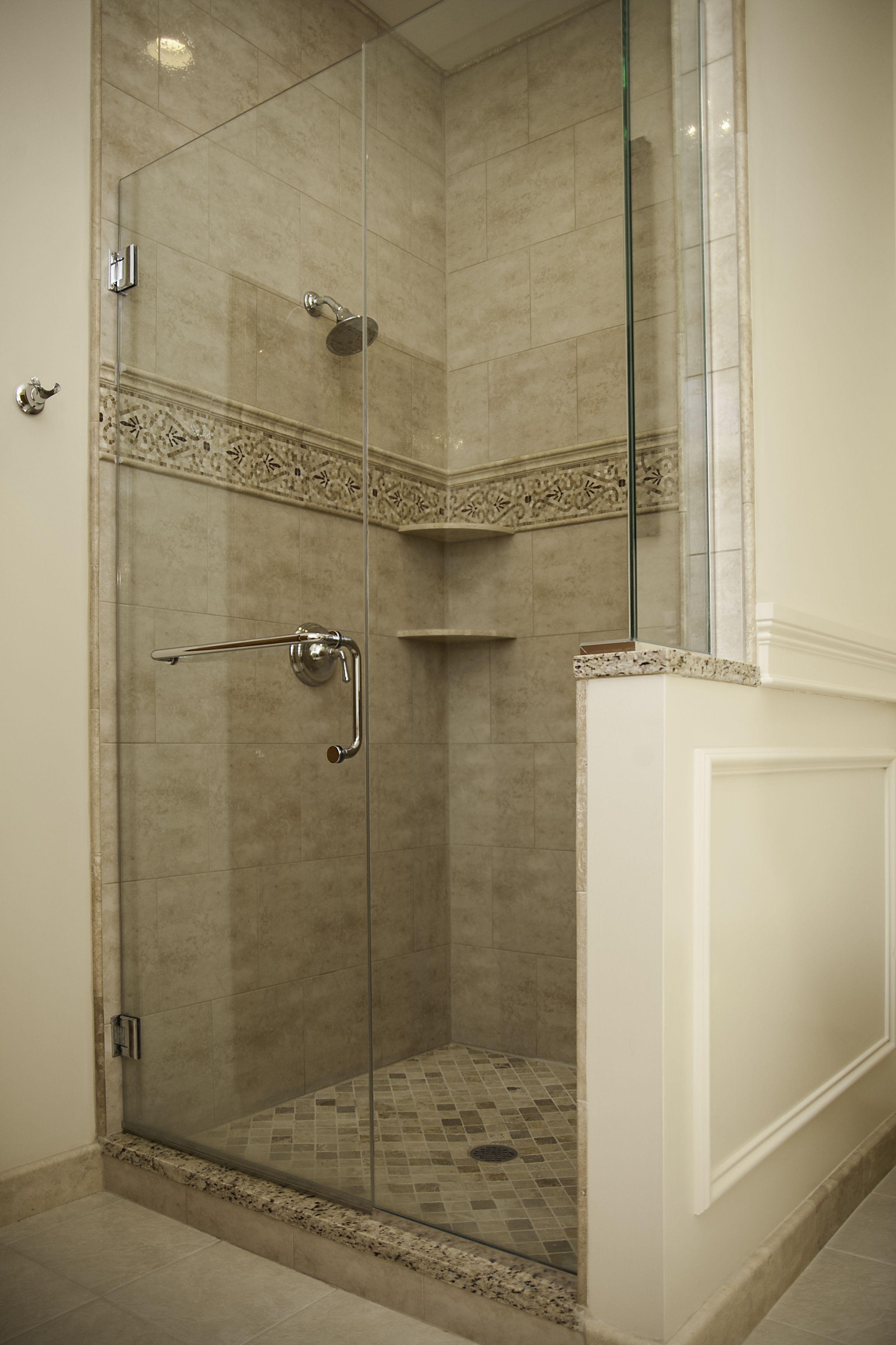 R&R in Naperville. Enlarged customer shower. Glass frameless ...