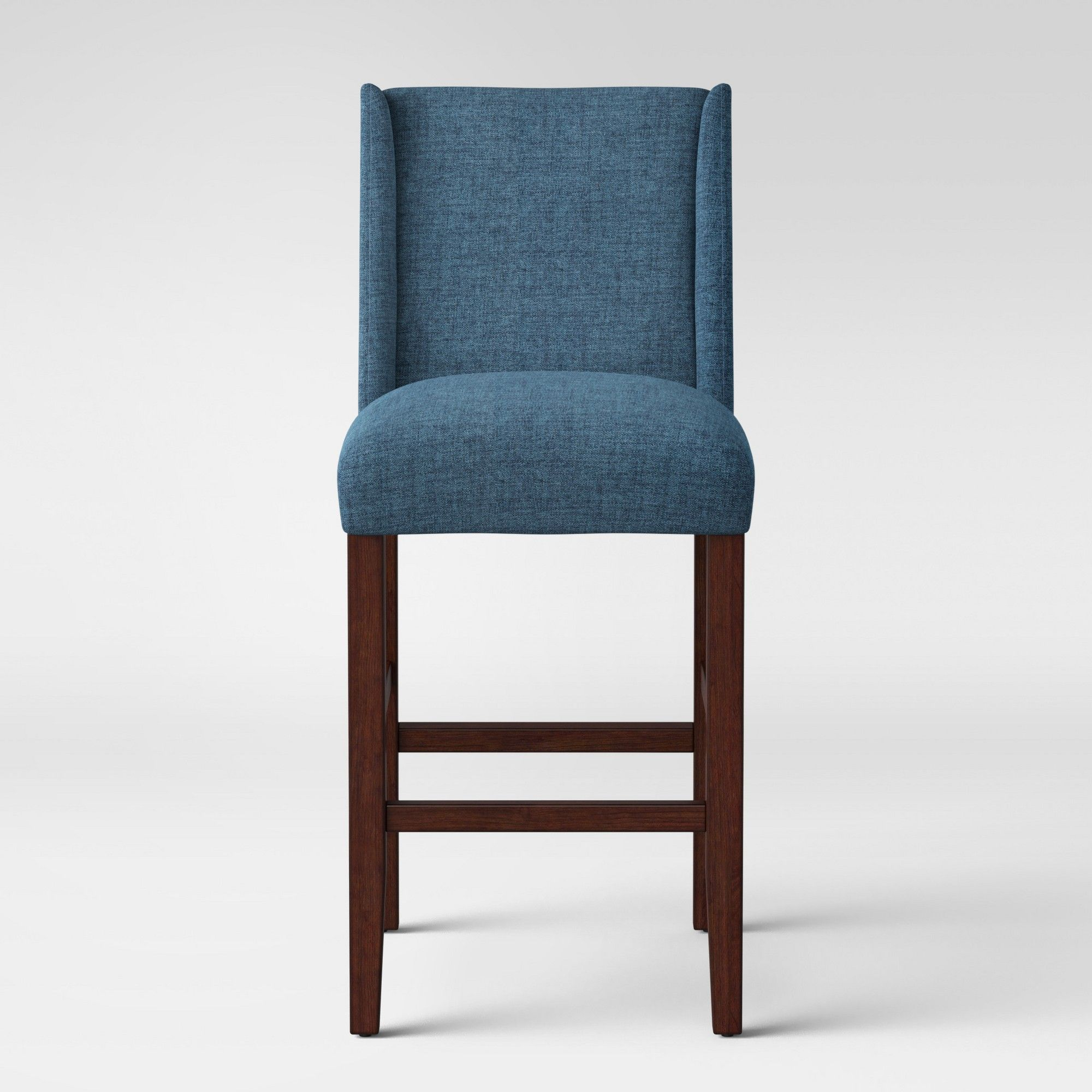 Admirable Lowell Modified Wingback 29 Barstool Navy Blue Threshold Andrewgaddart Wooden Chair Designs For Living Room Andrewgaddartcom
