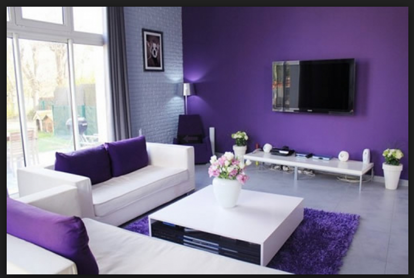 Intersting Shade Of Purple The Deeper Colour Should Be Reduced By Combining It With The Light Shades Cute Living Room Purple Living Room Living Room Color
