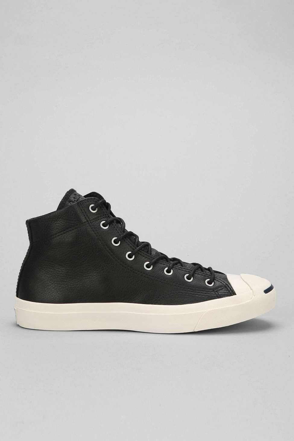 6b955e262c1a Converse Jack Purcell Mid-Top Leather Sneaker - Urban Outfitters
