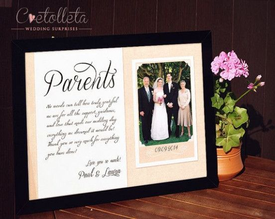 Wedding Day Gifts For Parents Wedding Photos Pinterest Wedding