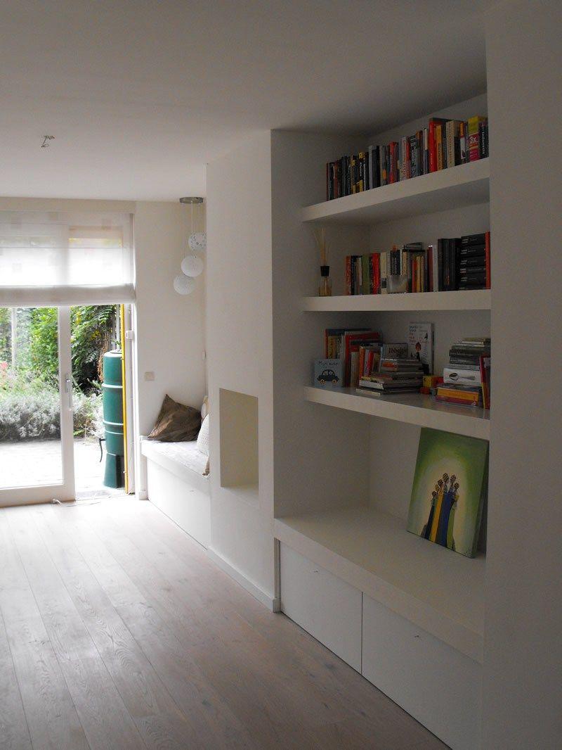Wandmeubel Met Zwevende Planken En Laden Boekenkast