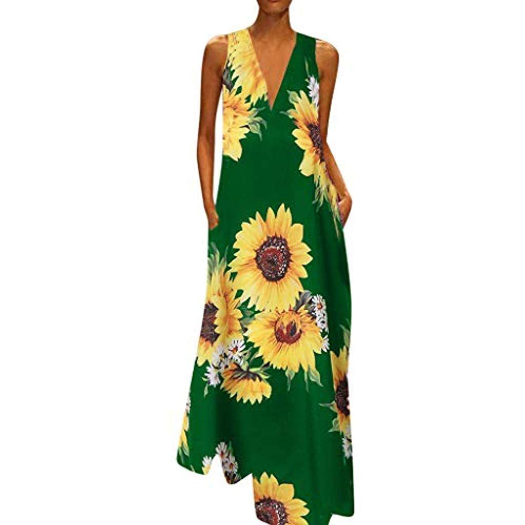 Sommerkleider Damen Langes Kleider Große GrößenFrauen Vintage