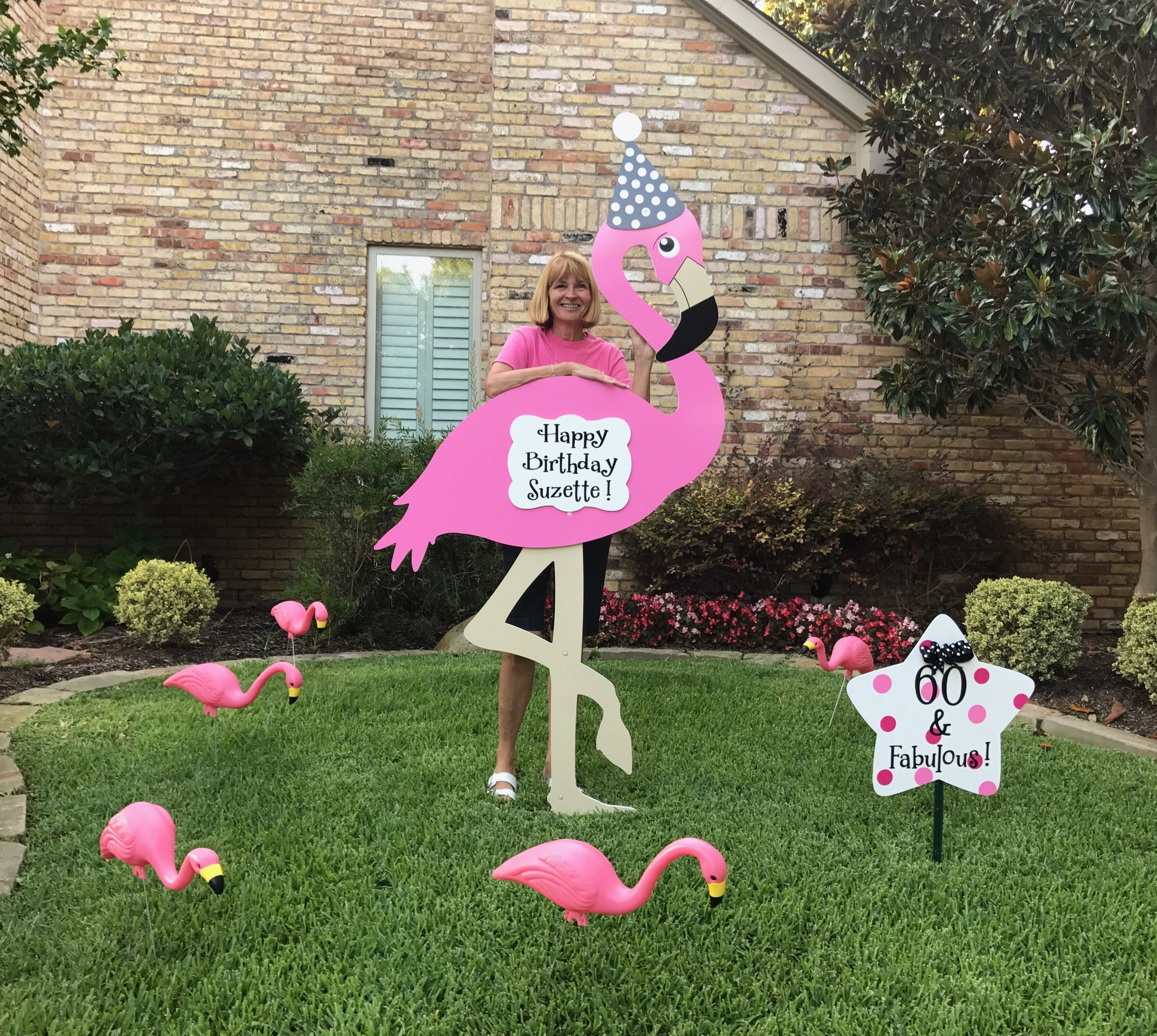 Plano Texas Happy 60th Birthday Suzette Here S To 60 Fabulous Storks More Of Dallas And Abilene Dallas 214 9 Birthday Lawn Signs Stork Yard Sign Stork