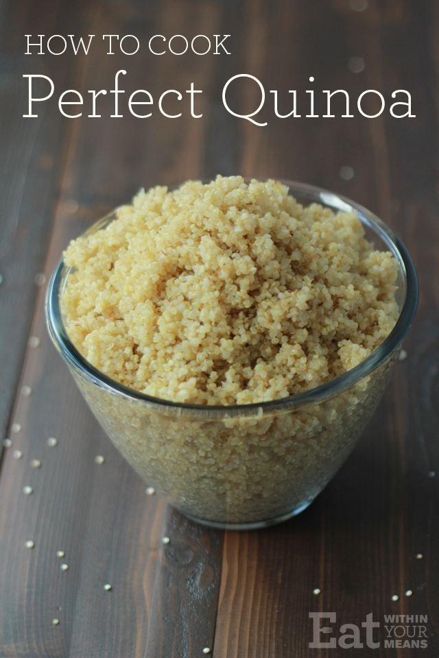 Wie man die perfekte Quinoa kocht | ESSEN MIT EINEM MITTEL ... -  Wie man die perfekte Quinoa kocht