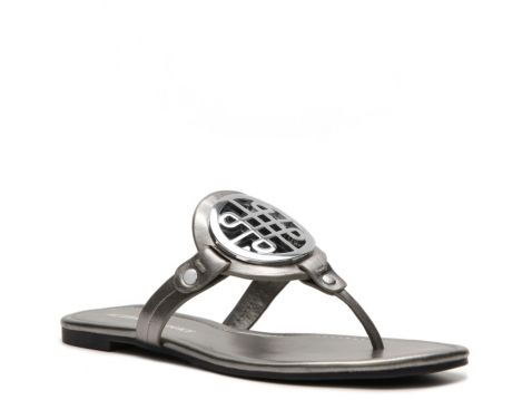 Audrey Brooke Malia Flat Sandal; similar to Tory Burch Miller.
