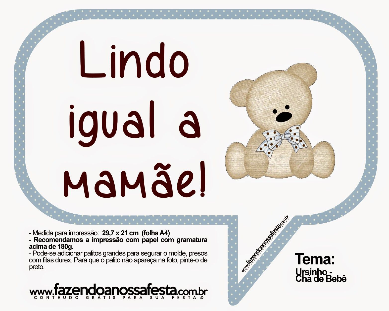 Top Plaquinhas para chá de bebê para imprimir | Lucca and Dolls BM73