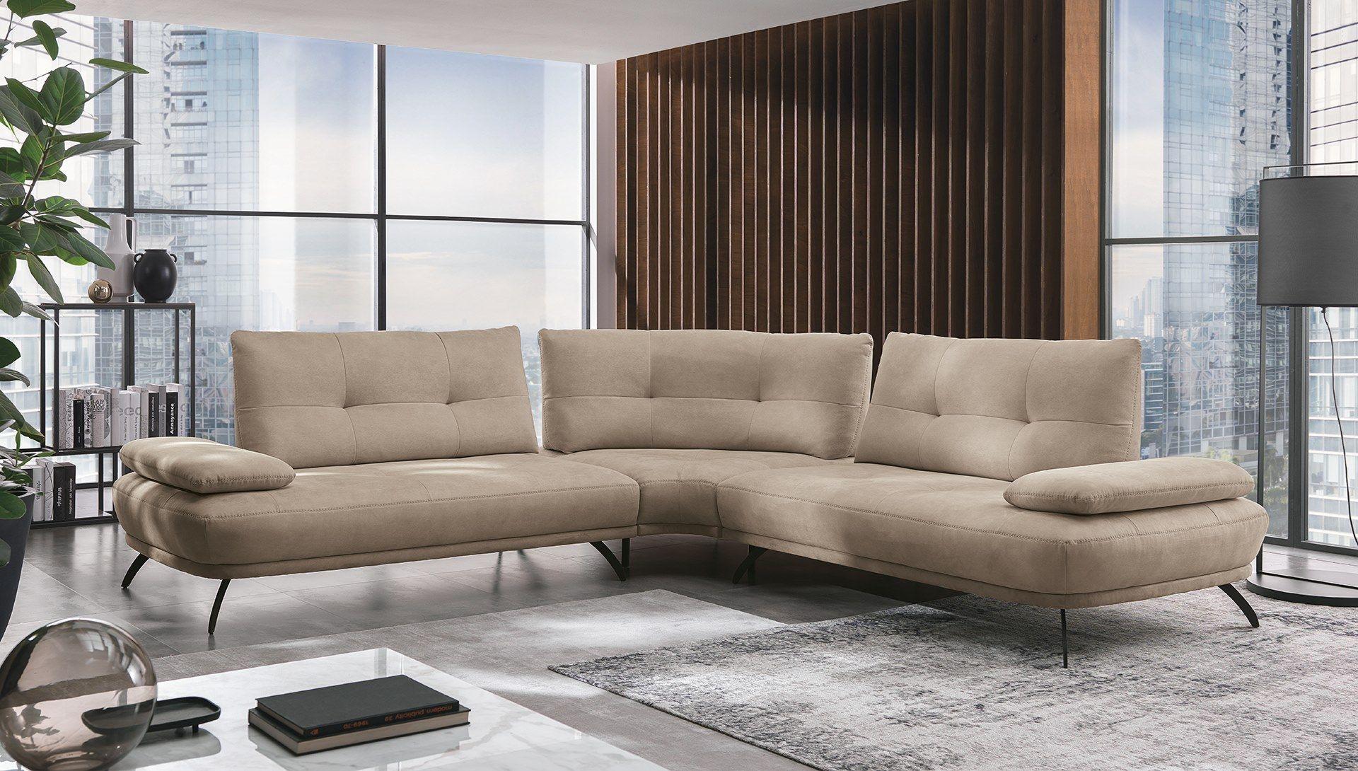 Corner sectional fabric sofa bogart by max divani in 2020