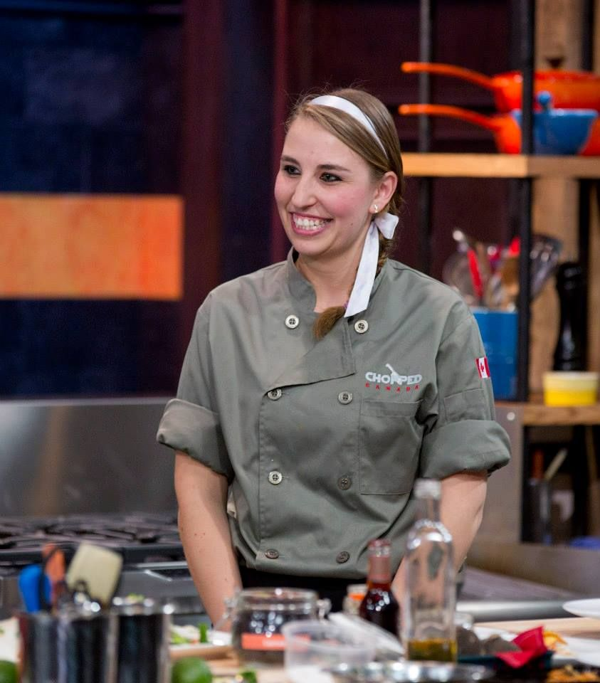 Chef maru cacho enjoys a lighter moment in our chopped