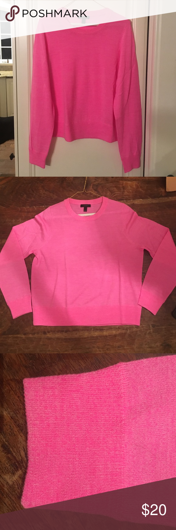 Pink J.Crew sweater Barely worn, baby pink sweater J. Crew Sweaters Crew & Scoop Necks