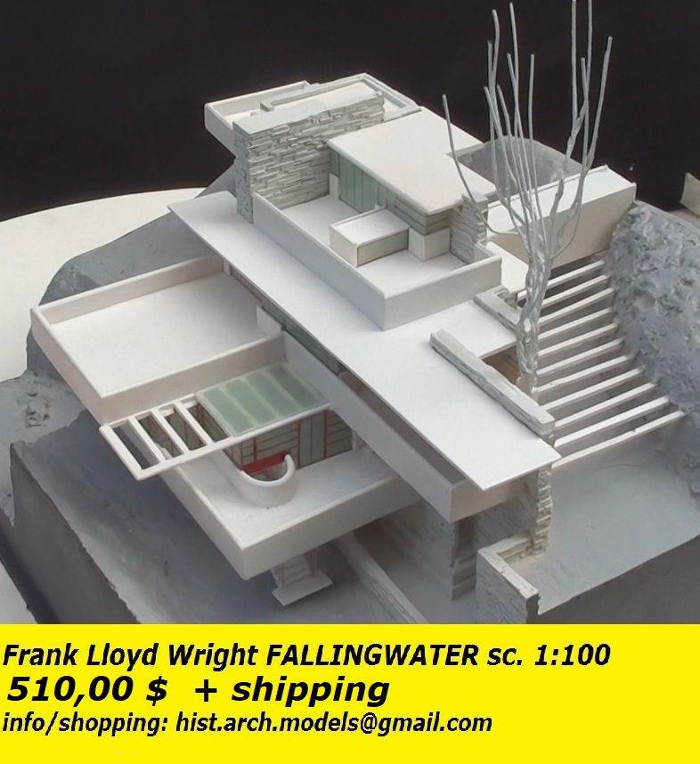 absolut stilvoll konkurrenzfähiger Preis am besten kaufen Frank Lloyd Wright - FALLINGWATER scale model 1:100 - 520 ...