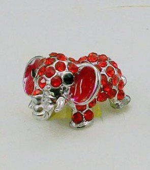 Dust Plugearphone Jack Accessories Crystal Red Elephant  Cell Charms  Dust Plug  Ear Jack for Iphone 4 4s  Ipad  Ipod Touch  Other 35mm Ear Jackwith Cutely Gift BoxFREE SHIPPING From NY ** You can find out more details at the link of the image.