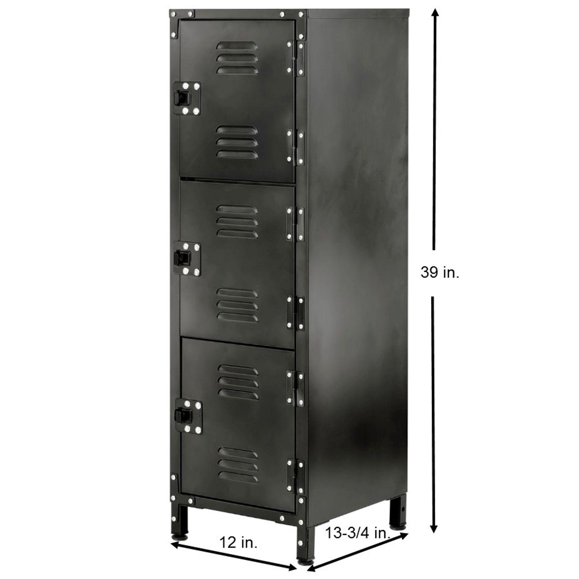 Allspace 3 Door Steel Storage Locker With Dark Weathered Finish 450112e Walmart Com In 2020 Locker Storage Door Locker Storage