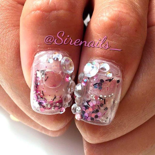 Aquarium Nail Art By Sirenails Aquariumnails Waternails