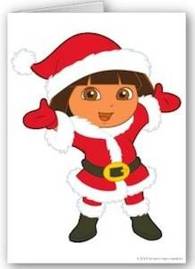 Dora The Explorer Christmas Card | Dora the Explorer | Pinterest ...