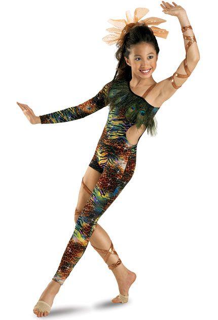 161866a444bdf Funky Animal Print Unitard; Weissman Costumes | Dance | Cute dance ...