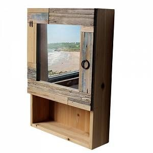 Connor 35cm x 50cm Mirrored Wall Mounted Cabinet Longshore Tides  - Brown - Size: 50cm H X 35cm W X 11cm D