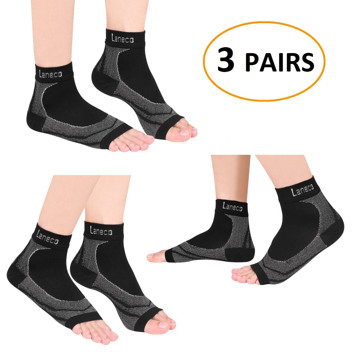 Men Golf Clothing  Laneco Plantar Fasciitis Socks  Pairs