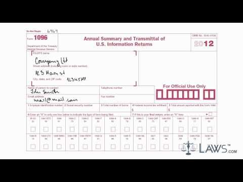 How To Fill Out 1096 Tax Form Ibovnathandedecker
