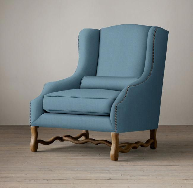 17th C French Wingback Chair #wingbackchair Wingback Chair in