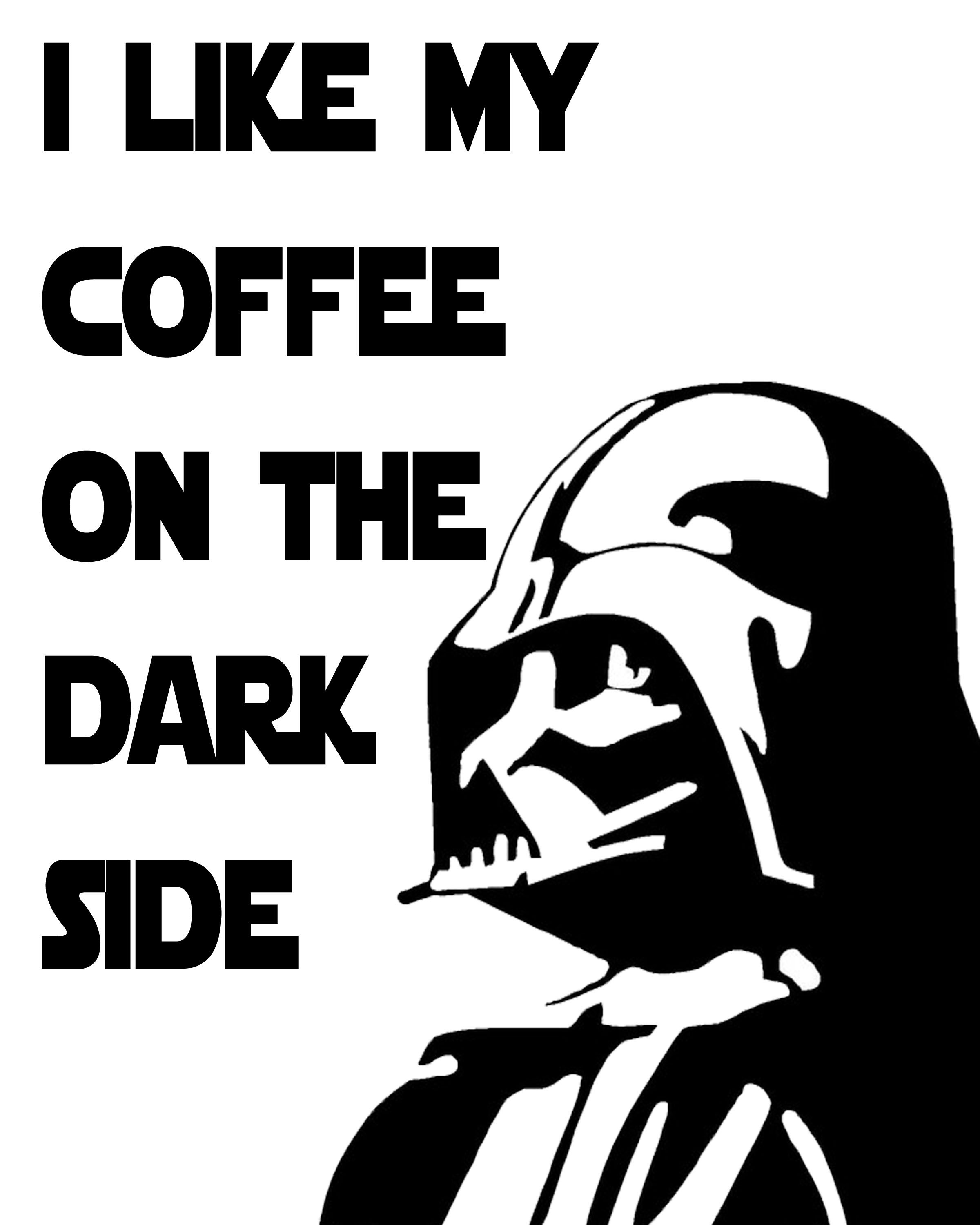 Free Star Wars Printables with a Coffee Theme | coffee the elixir of ...