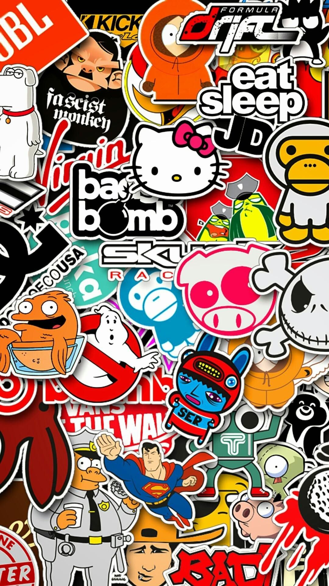 1080x1920 1080 X 1920 Background Vertical Download Free Sticker Bomb Wallpaper Sticker Bomb Graffiti Wallpaper
