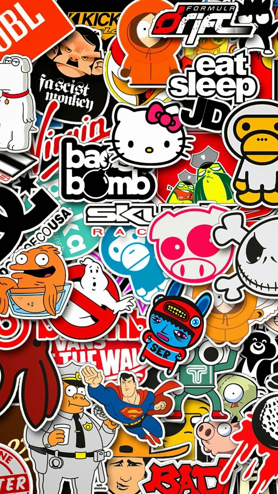 1080x1920 1080 X 1920 Background Vertical Download Free Sticker Bomb Wallpaper Sticker Bomb Graffiti Wallpaper