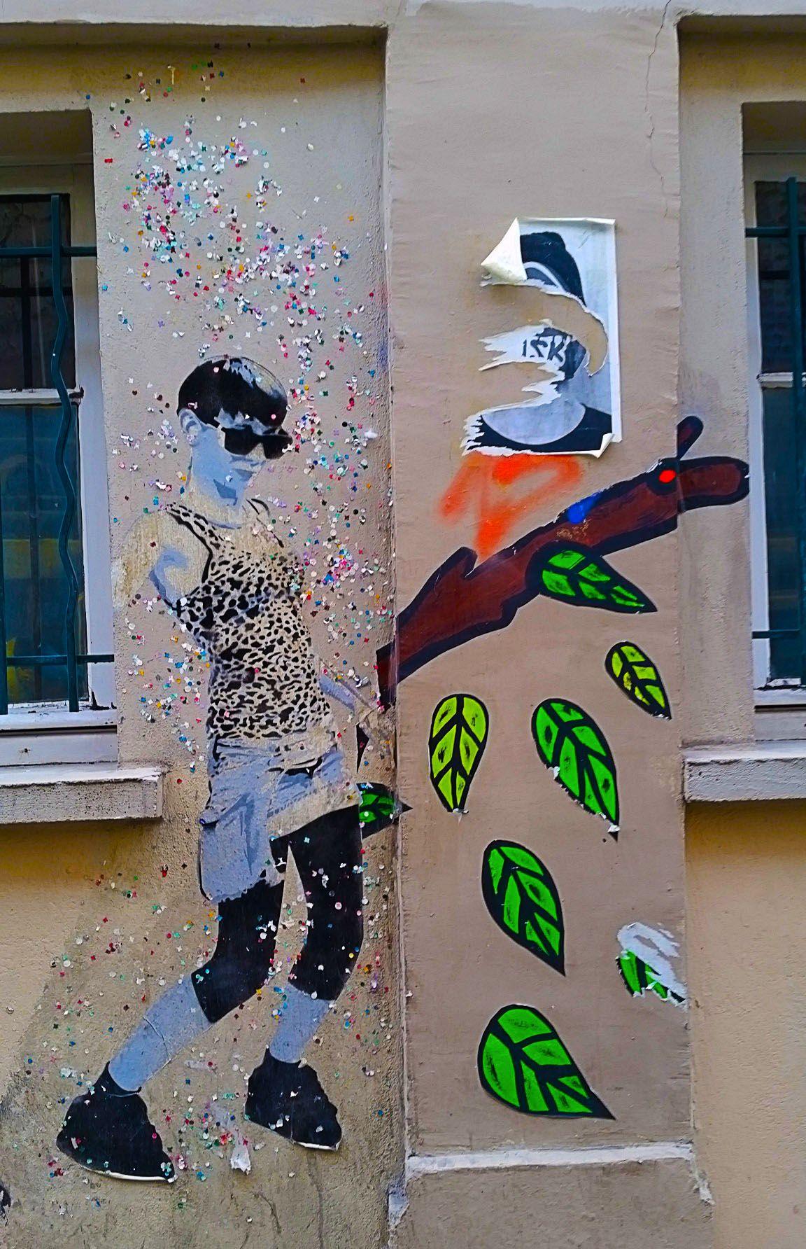 Street Art Entre R Publique Et Belleville Paris #Streetart #Graffiti