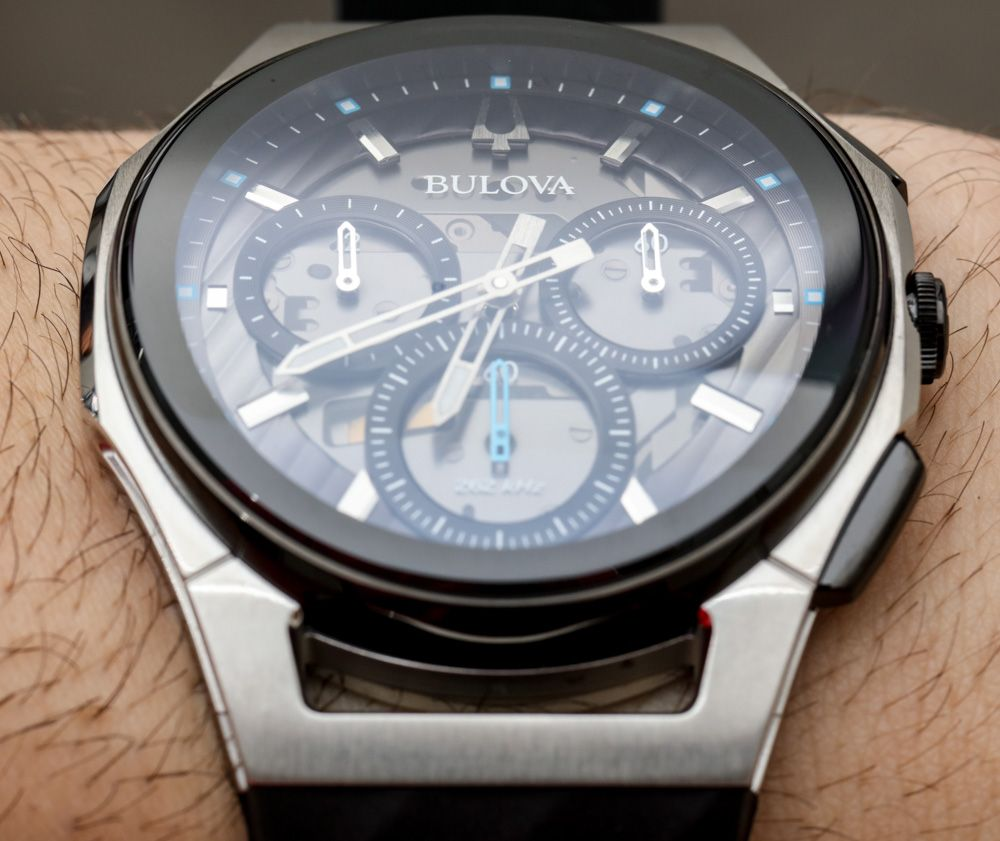 8630fa7fa28 Bulova CURV Watches With Curved Chronograph Movements Hands-On Hands ...