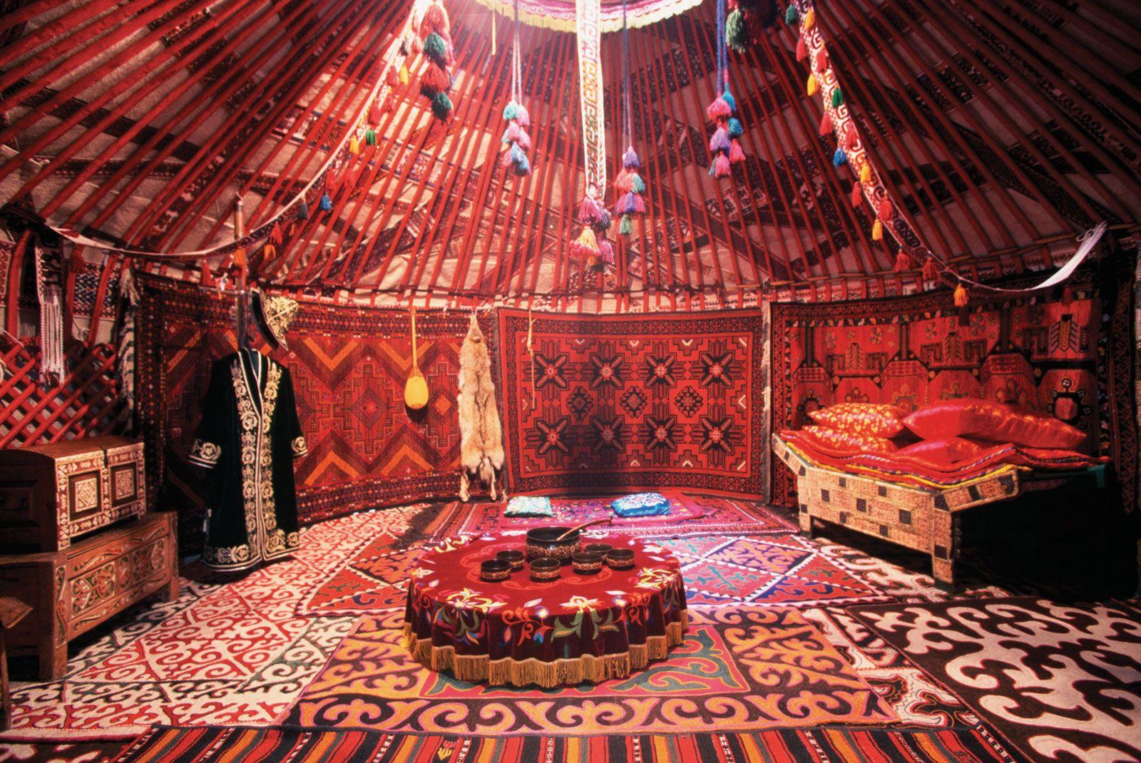 Image result for kazakh yurt