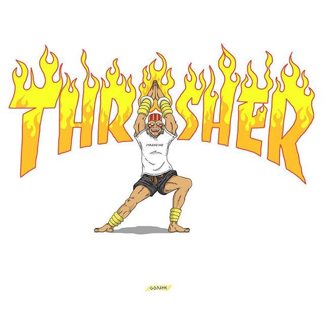 dyoga fire! 🔥 thrasher Thrasher, Bart simpson, Art