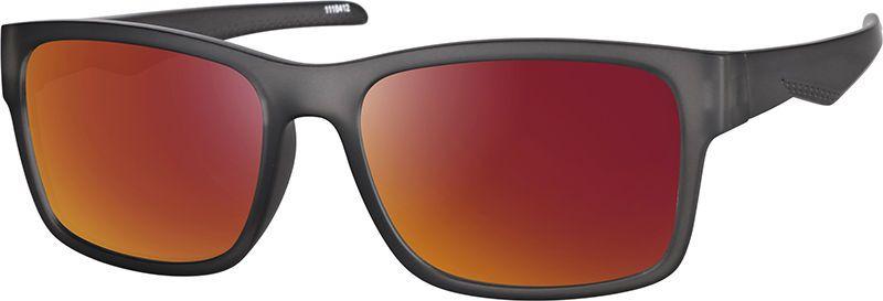 91244596835 Zenni Rectangle Rx Sunglasses Gray TR 1116412