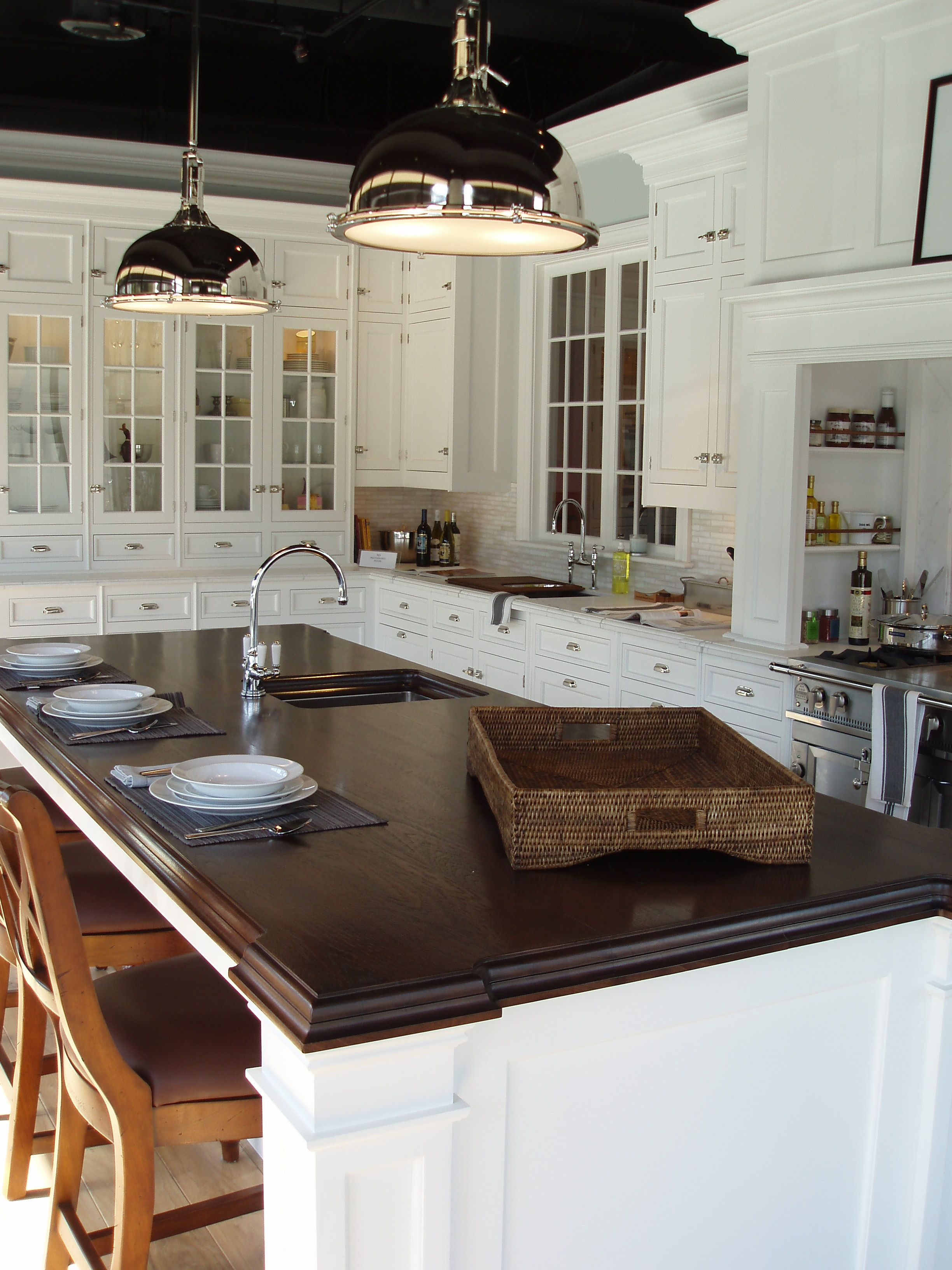 q popular countertop materials for 2012 zinc and walnut, concrete  countertops, countertops, Walnut top it s a classic and looks great