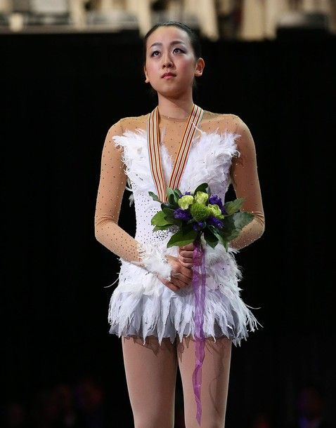 LONDON, CANADA - MARCH 16:  Mao Asada of Japan celebrates her silver in the Ladies Free Skating Program during the 2013 ISU World Figure Skating Championships at Budweiser Gardens on March 16, 2013 in London, Ontario, Canada.