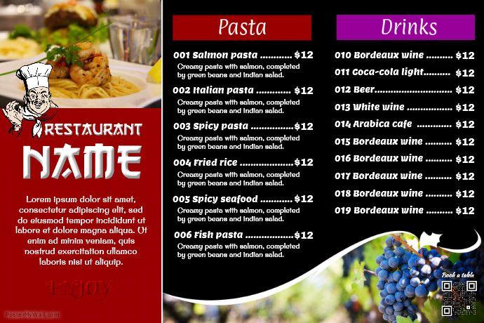 Restaurant Flyer  Professionak Design   Rows Menu With Image