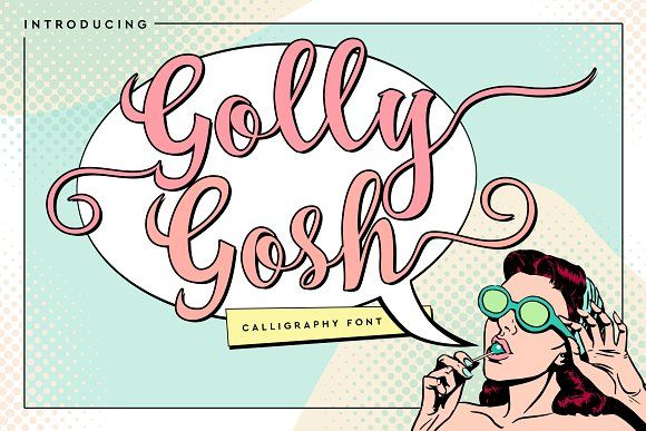 Golly Gosh by Font Bundles on @creativemarket