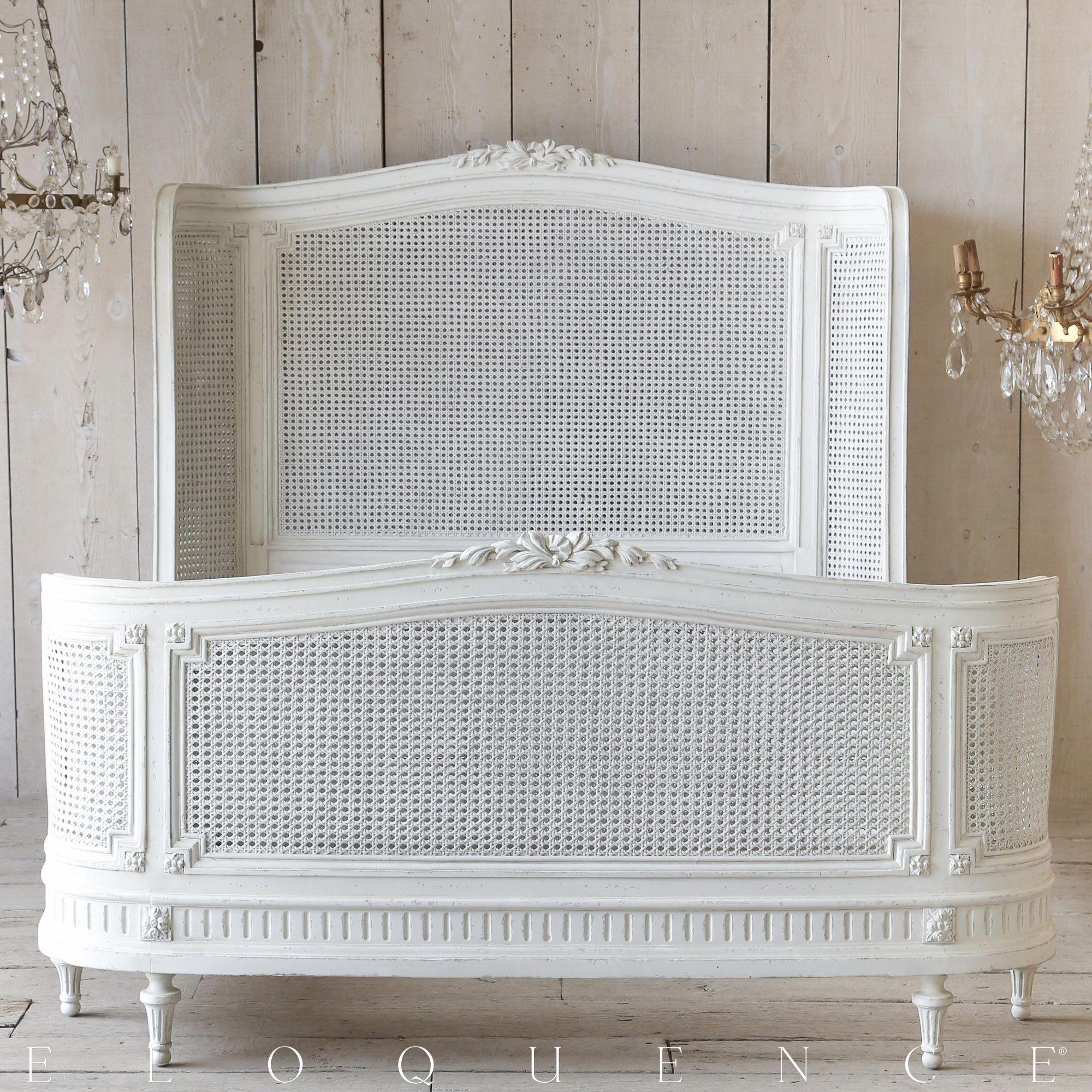 Best Eloquence® Arabella Queen Antique White Cane Bed Www 400 x 300