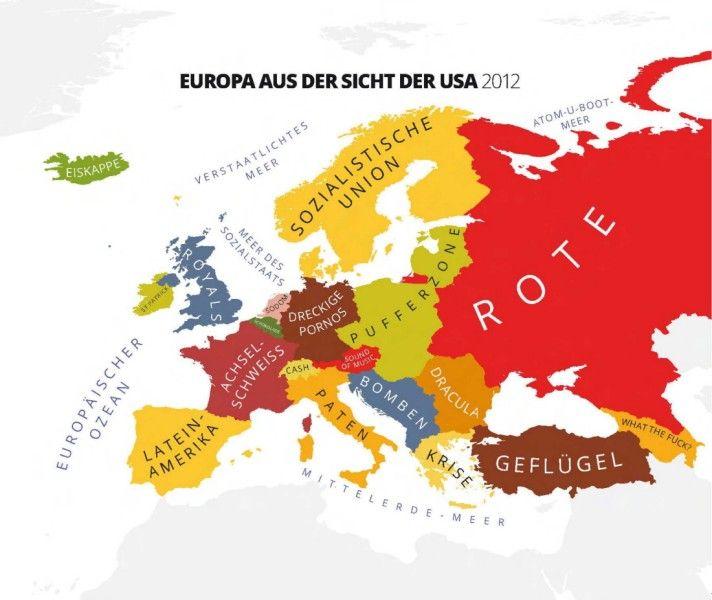 Satirische Weltkarten Garantiert Voller Vorurteile Weltkarte