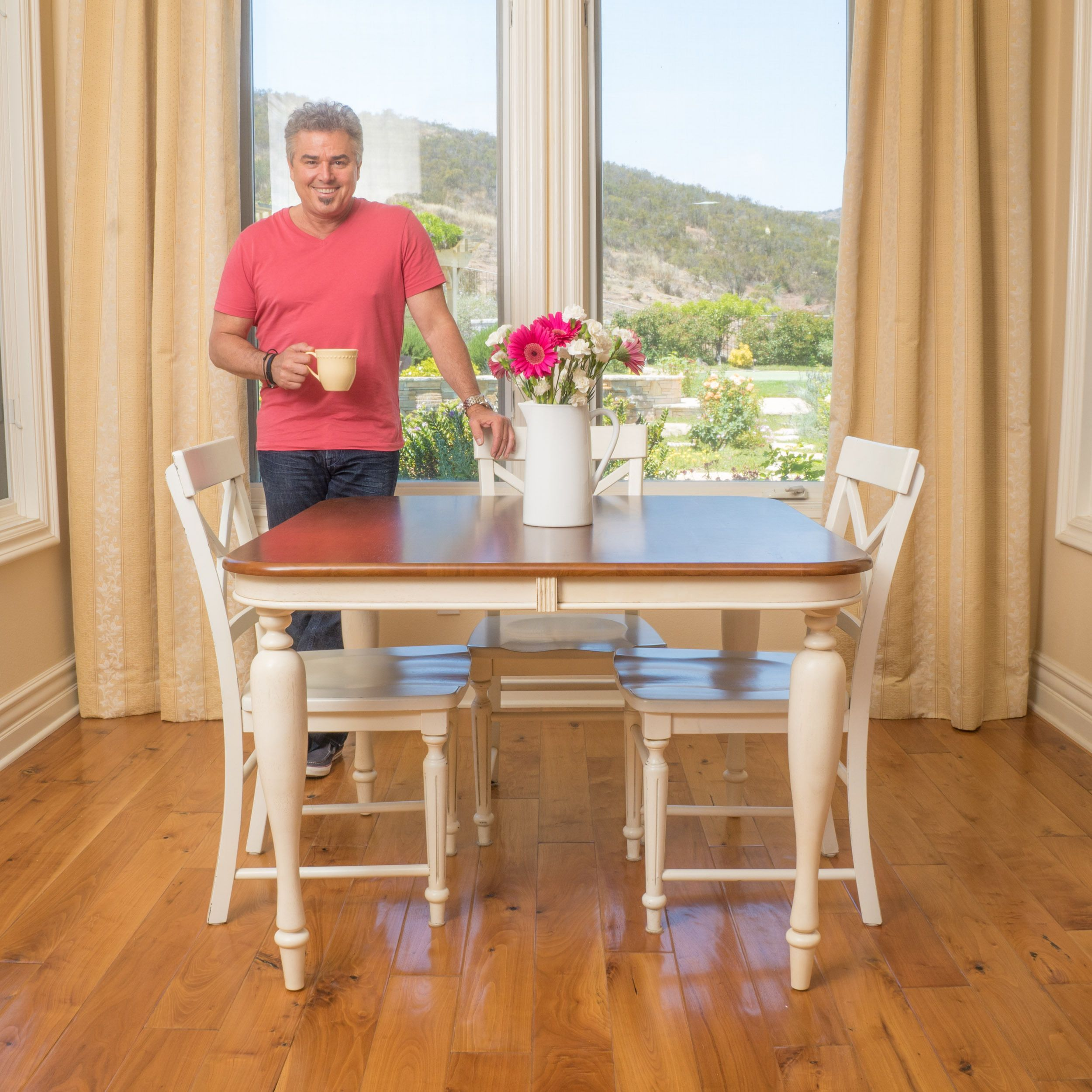 Clearwater Multi Colored Wood Dining Table ONLY by Christopher
