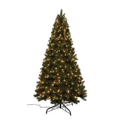 9 Ft Noble Fir Quick Set Artificial Christmas Tree With 800 Clear Lights W14l0468 The Home De Pre Lit Christmas Tree Christmas Tree Types Of Christmas Trees