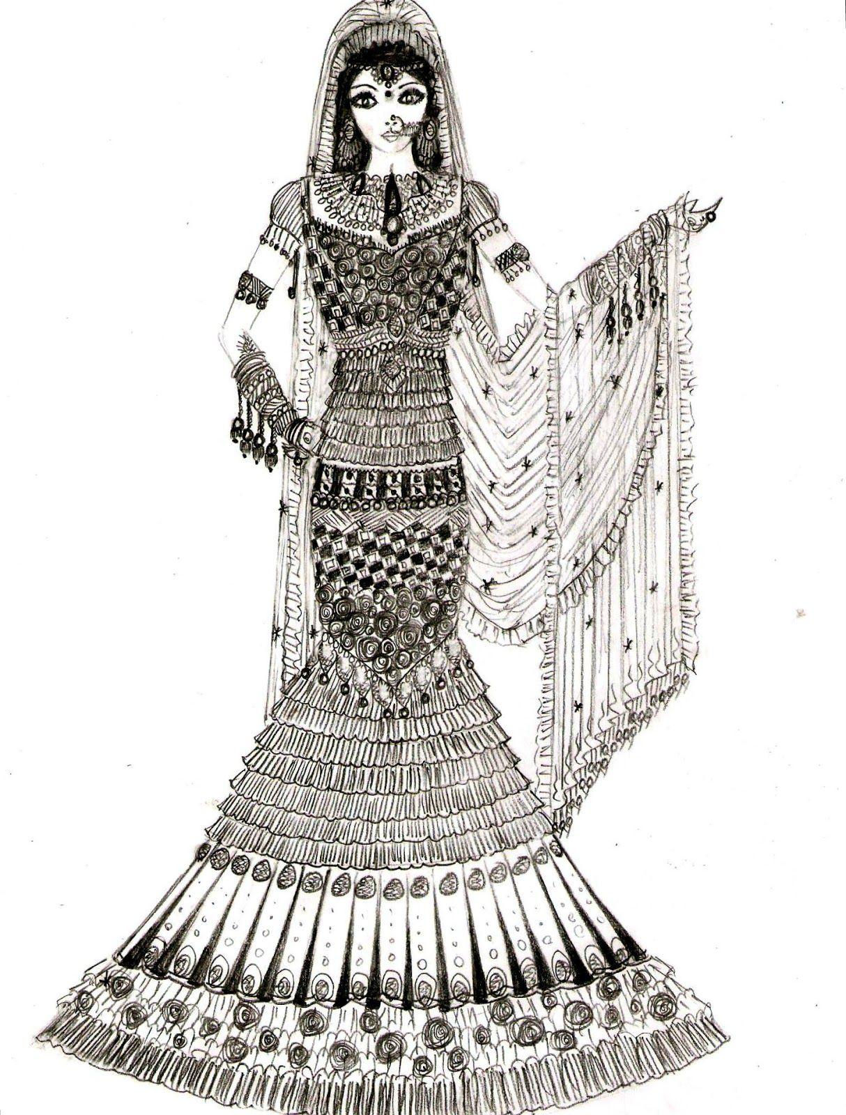 Indian Drawings Google Search Dress Design Sketches Designer Dresses Indian Desi Bride