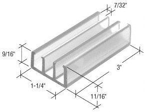 Crl 1 1 4 Wide Clear Sliding Shower Door Bottom Guide Package