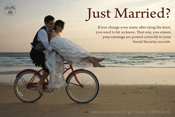 got married how to change name social security