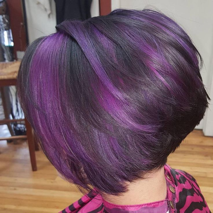 Image Result For Dark Brown Hair Color With Purple Highlights Hair