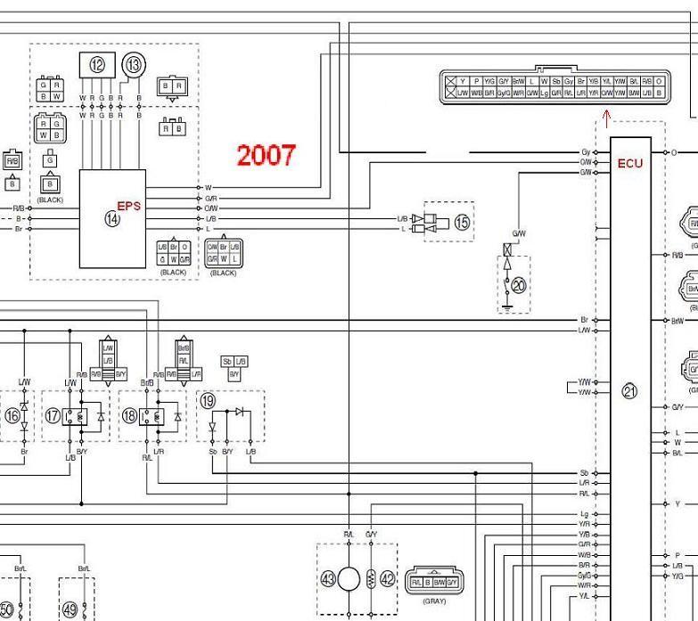 electrical wiring diagram yamaha rhino  wiring diagram wave