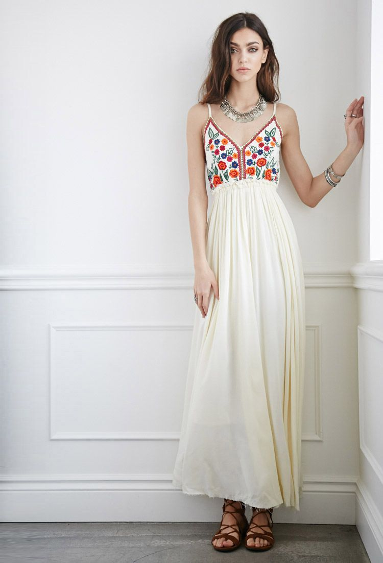 aa2cf5c3ba1e Raga LA Embroidered Maxi Dress | FOREVER21 - $148 | Puerto Rico ...