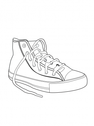Chuck Taylor Coloring Sheet | Printable Coloring Pages | Pinterest ...