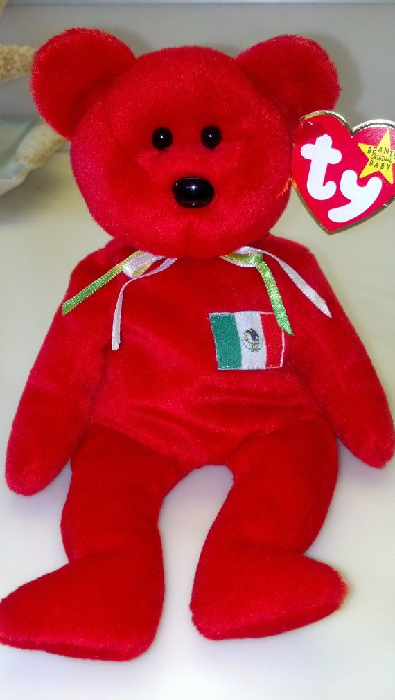 46541a5e6f7 Osito the Bear Rare Vintage Collectible Plush Ty Beanie Baby Mexico ...
